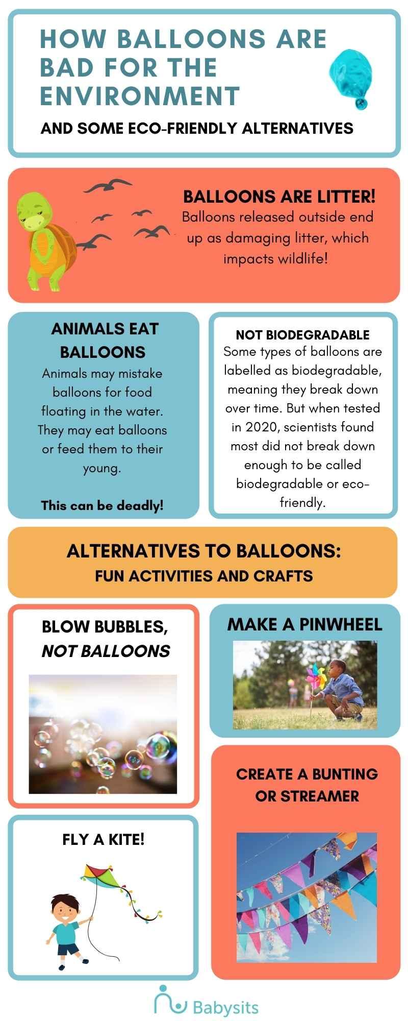 eco friendly balloon alternatives infographic