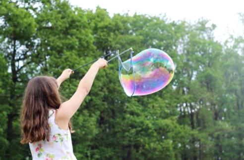 Bubble blower, bubble wand diy