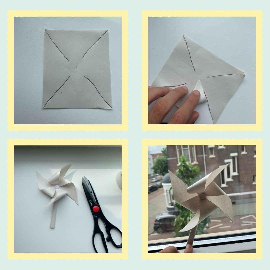 paper pinwheel diy craft steps