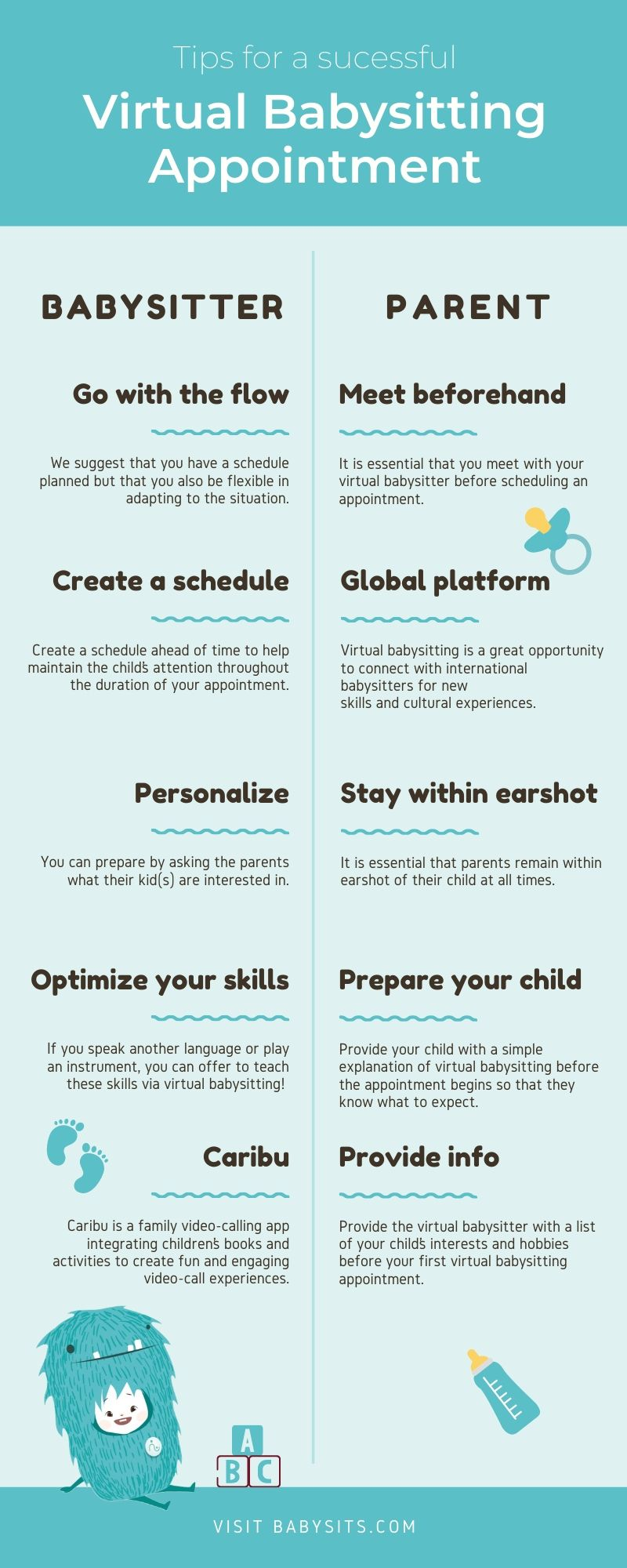 Tips for Virtual Babysitting