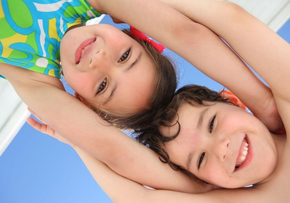 Kids having fun in the sun