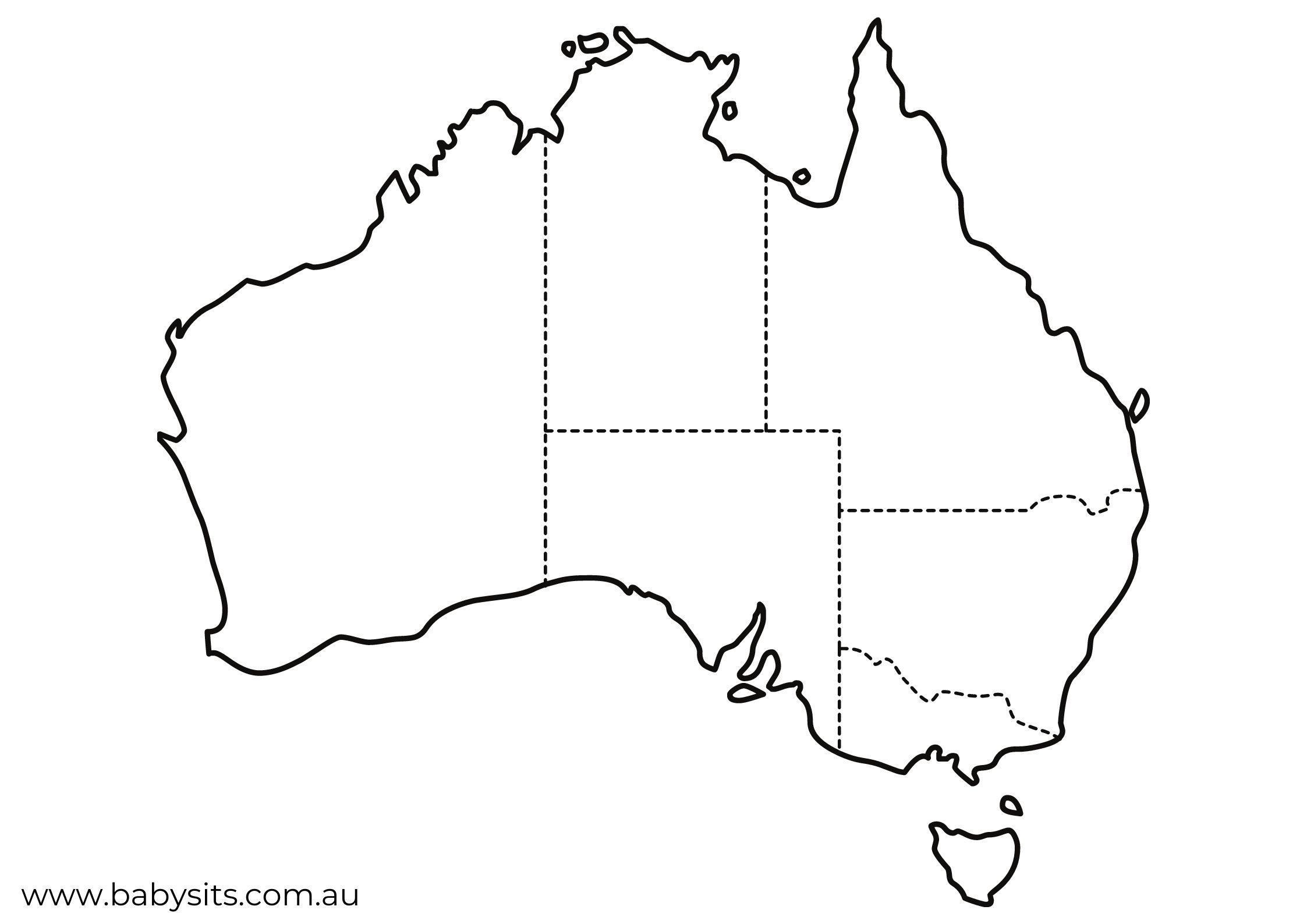 map of Australia States