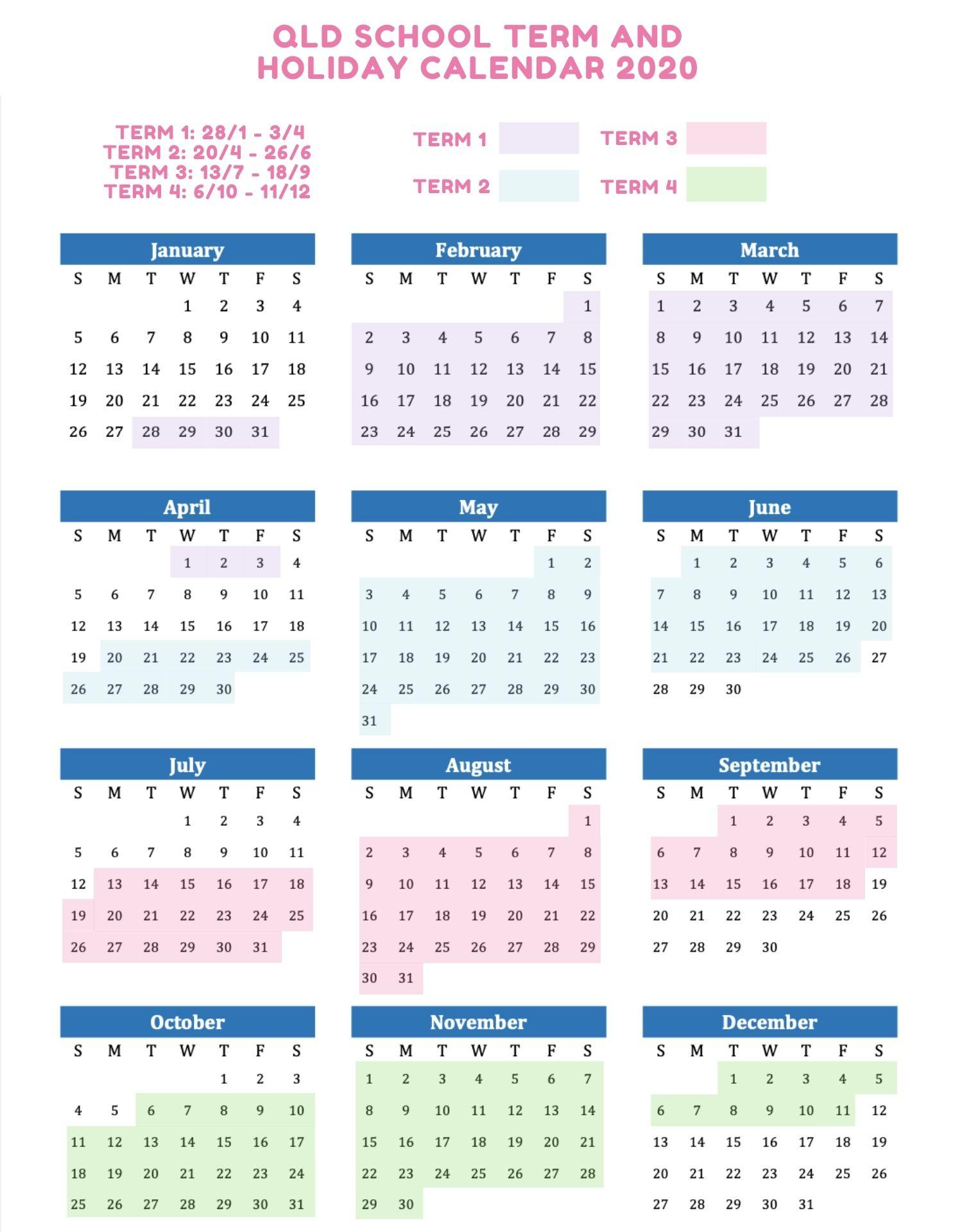 QLD School Holidays 2020