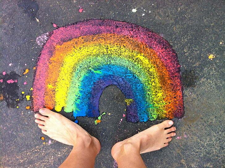 Pride Rainbow LGBT Feet