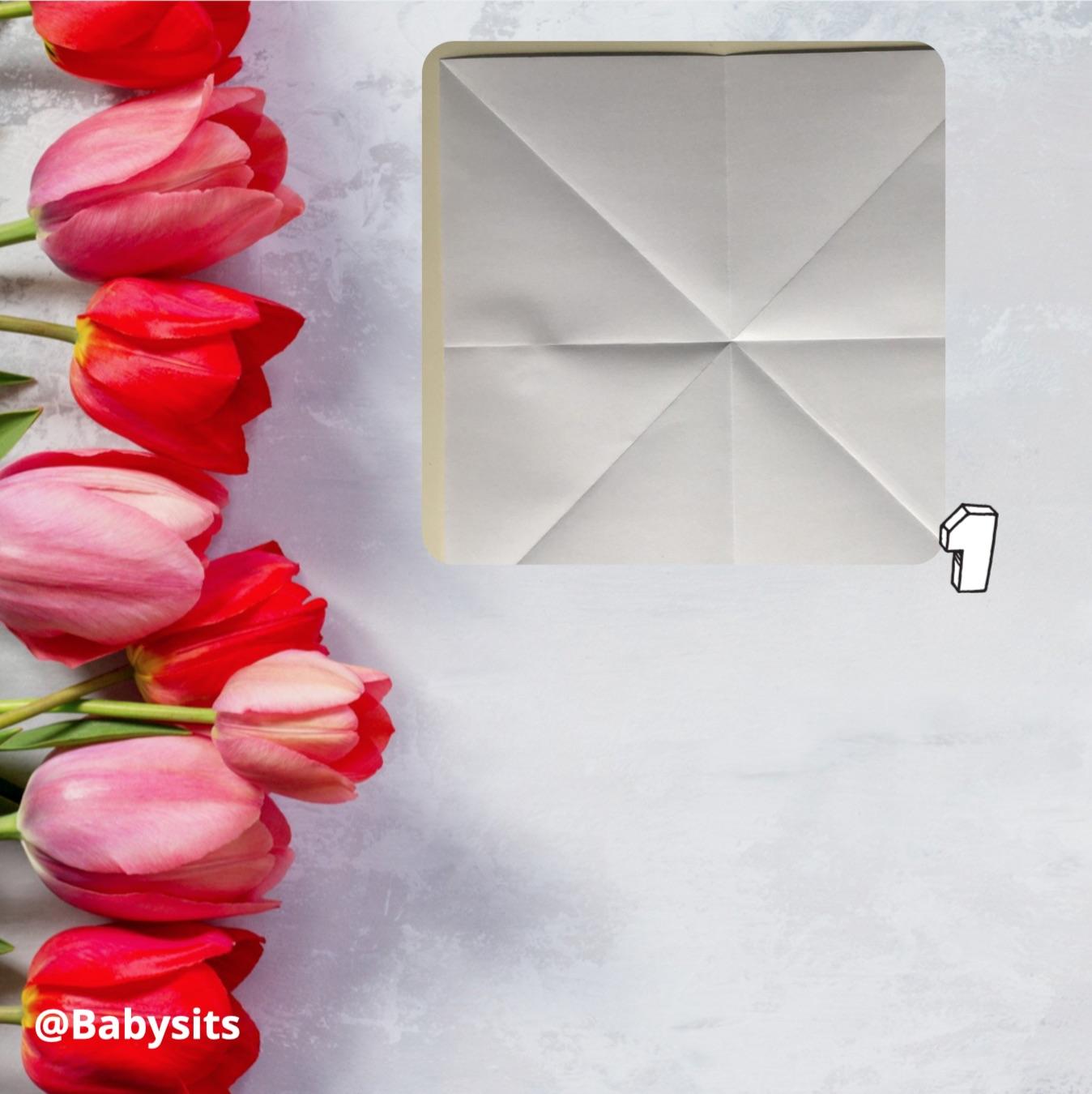 Origami tulpen