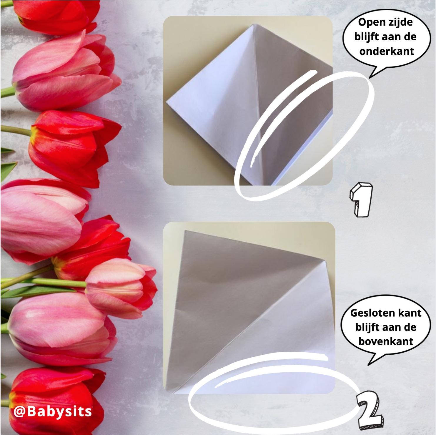 origami bloemen maken