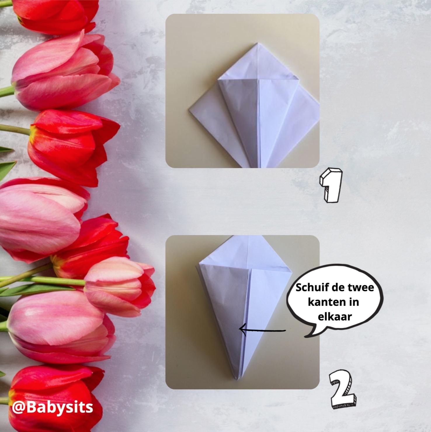 origami tulpen stap 5