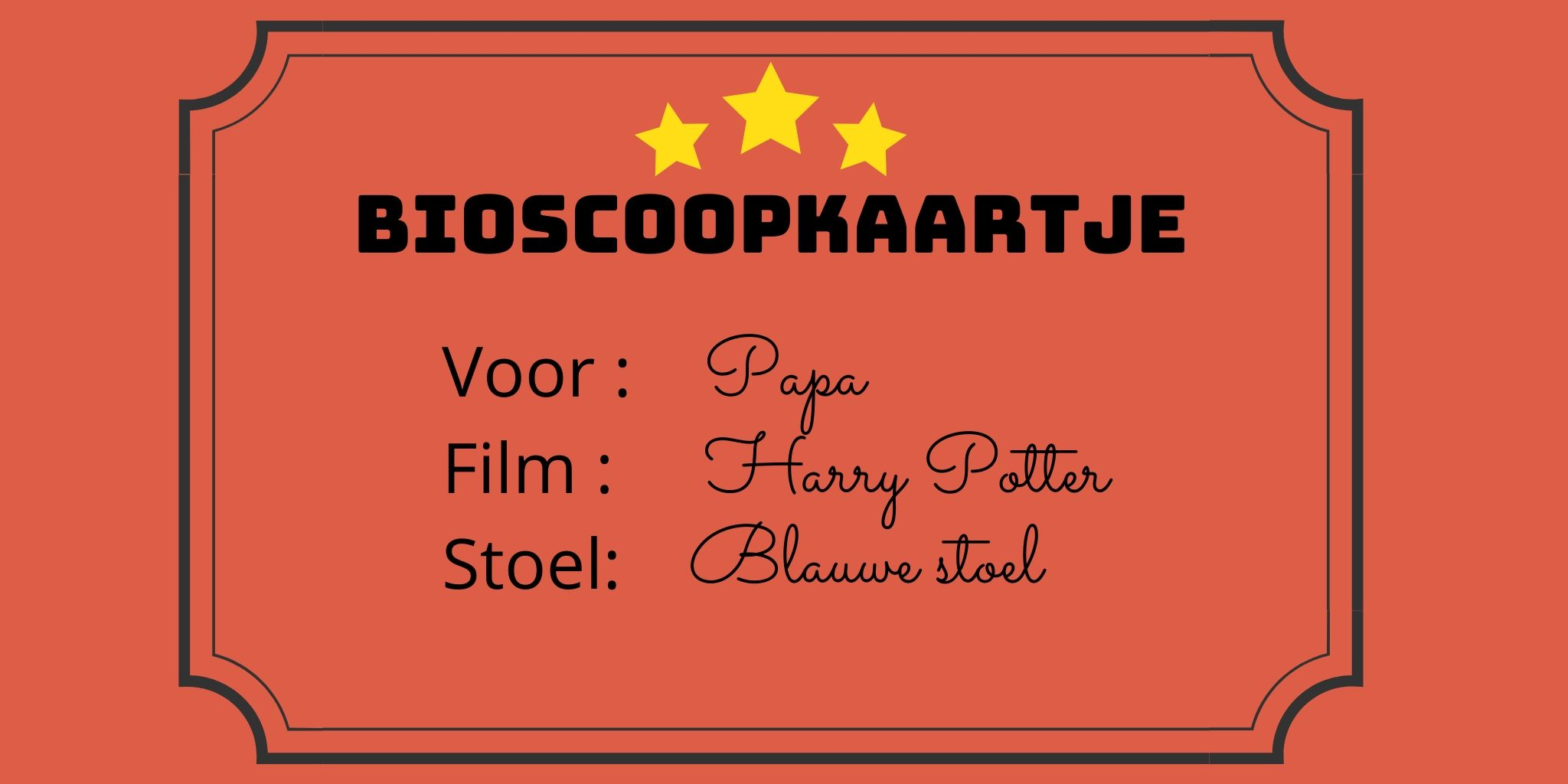 bioscoopkaartje
