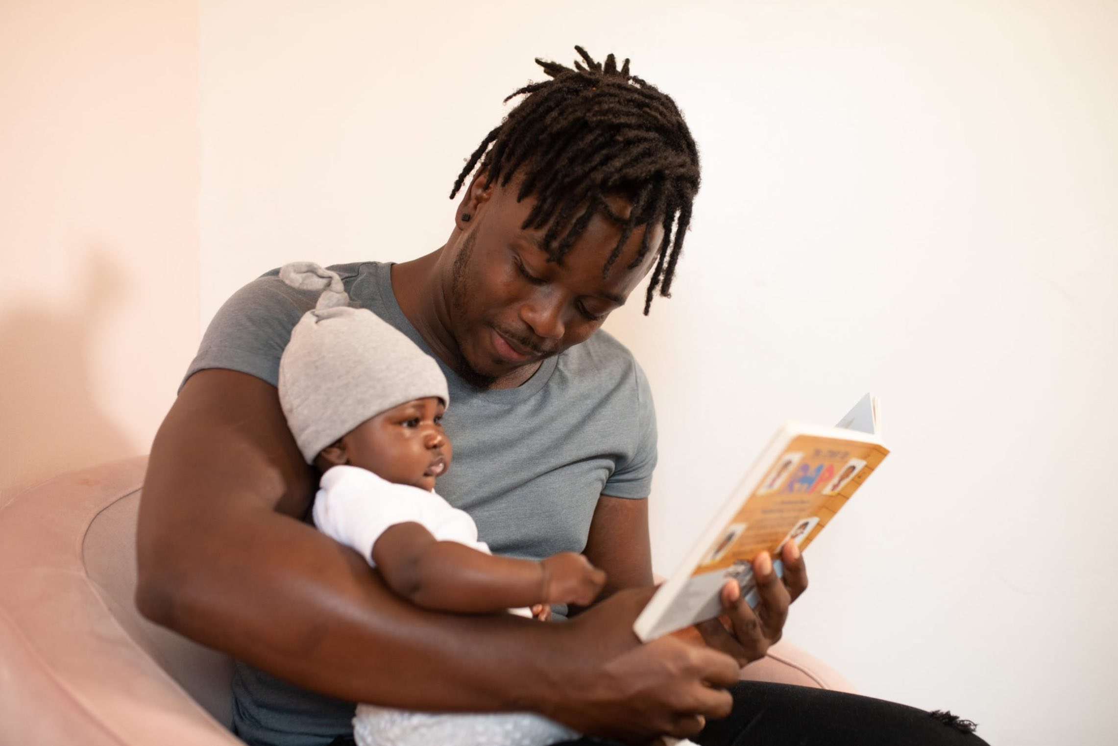 Father reading for his child