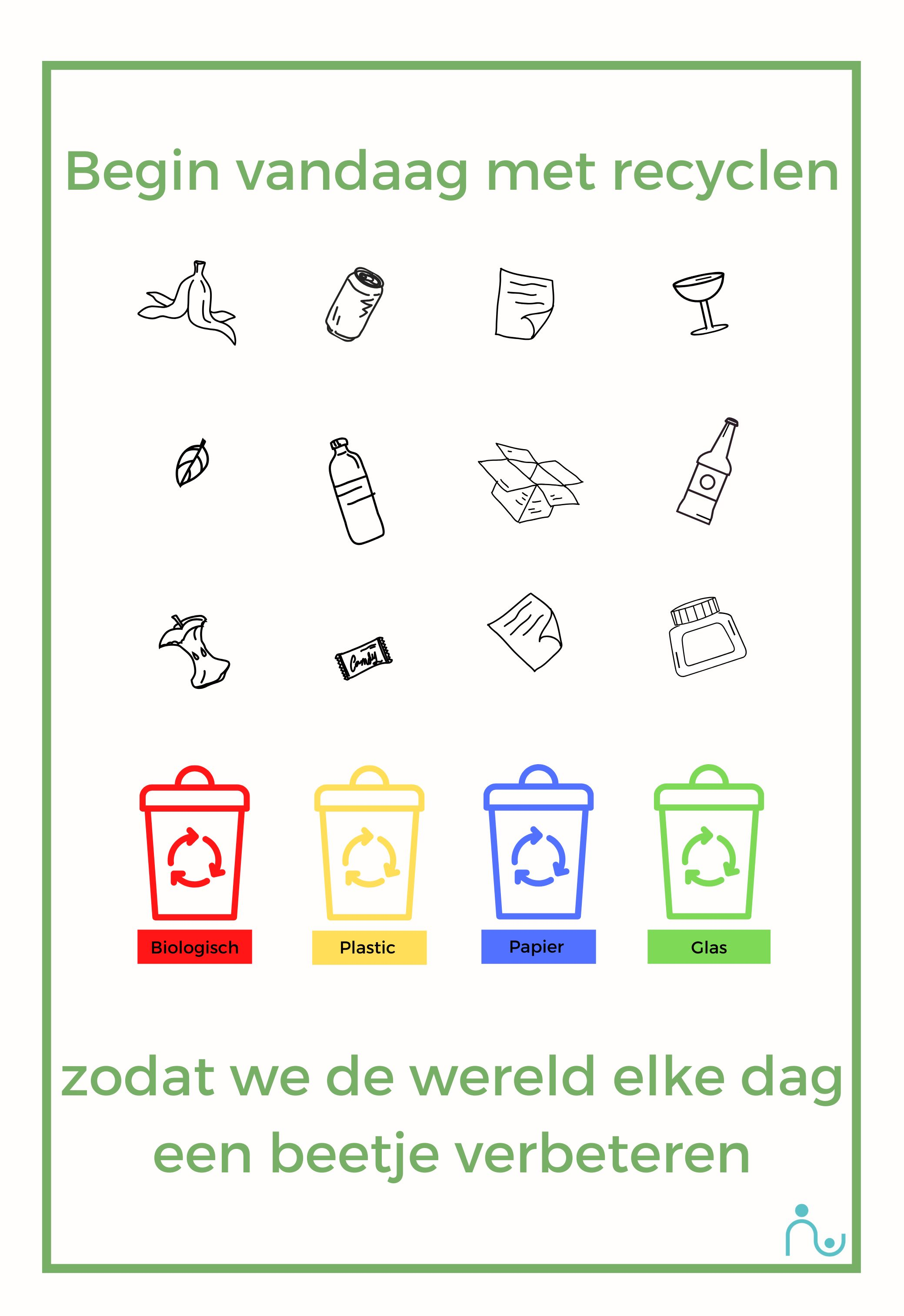 Leer kinderen recyclen