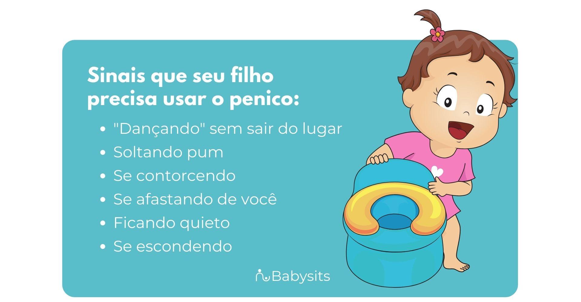 Como saber se a criança precisa usar o penico