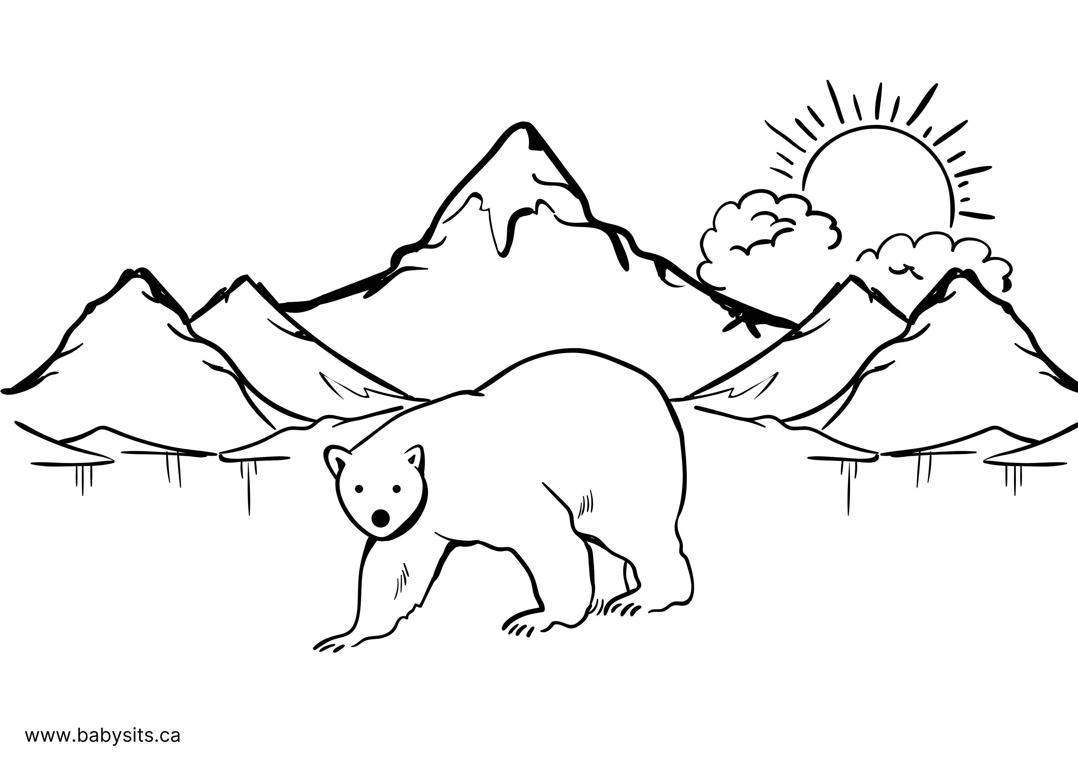Beaver colouring page
