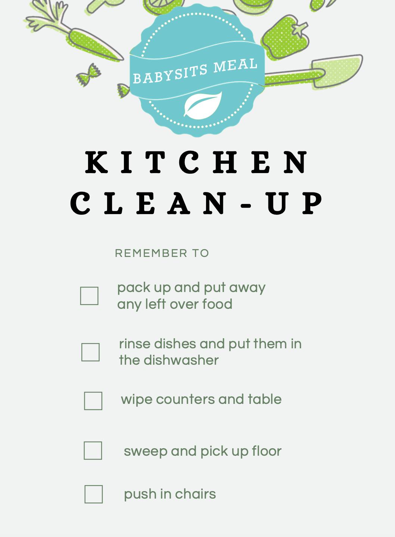 HelloFresh Babysits Kids Kitchen Cleanup