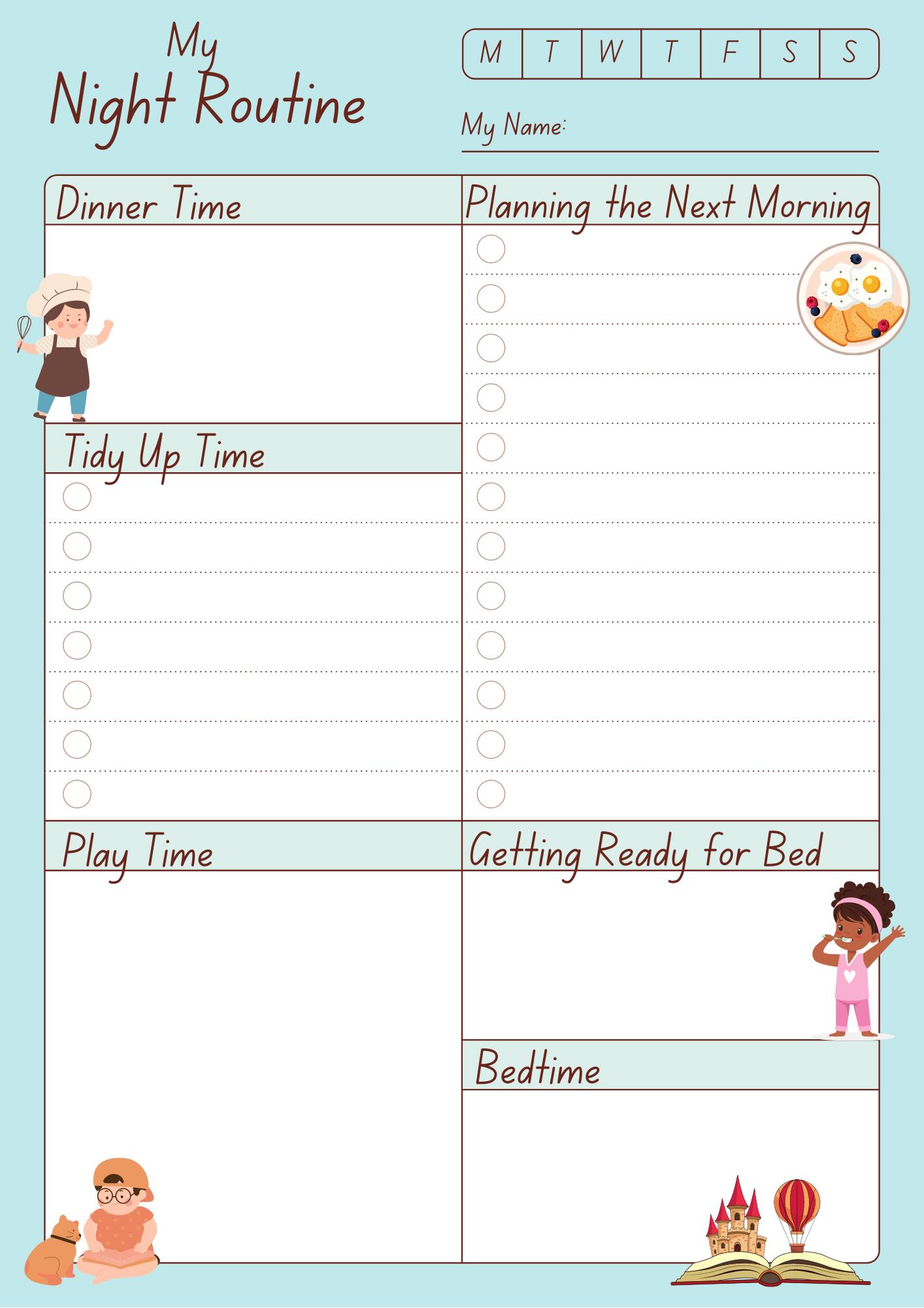 Night Routine Planner