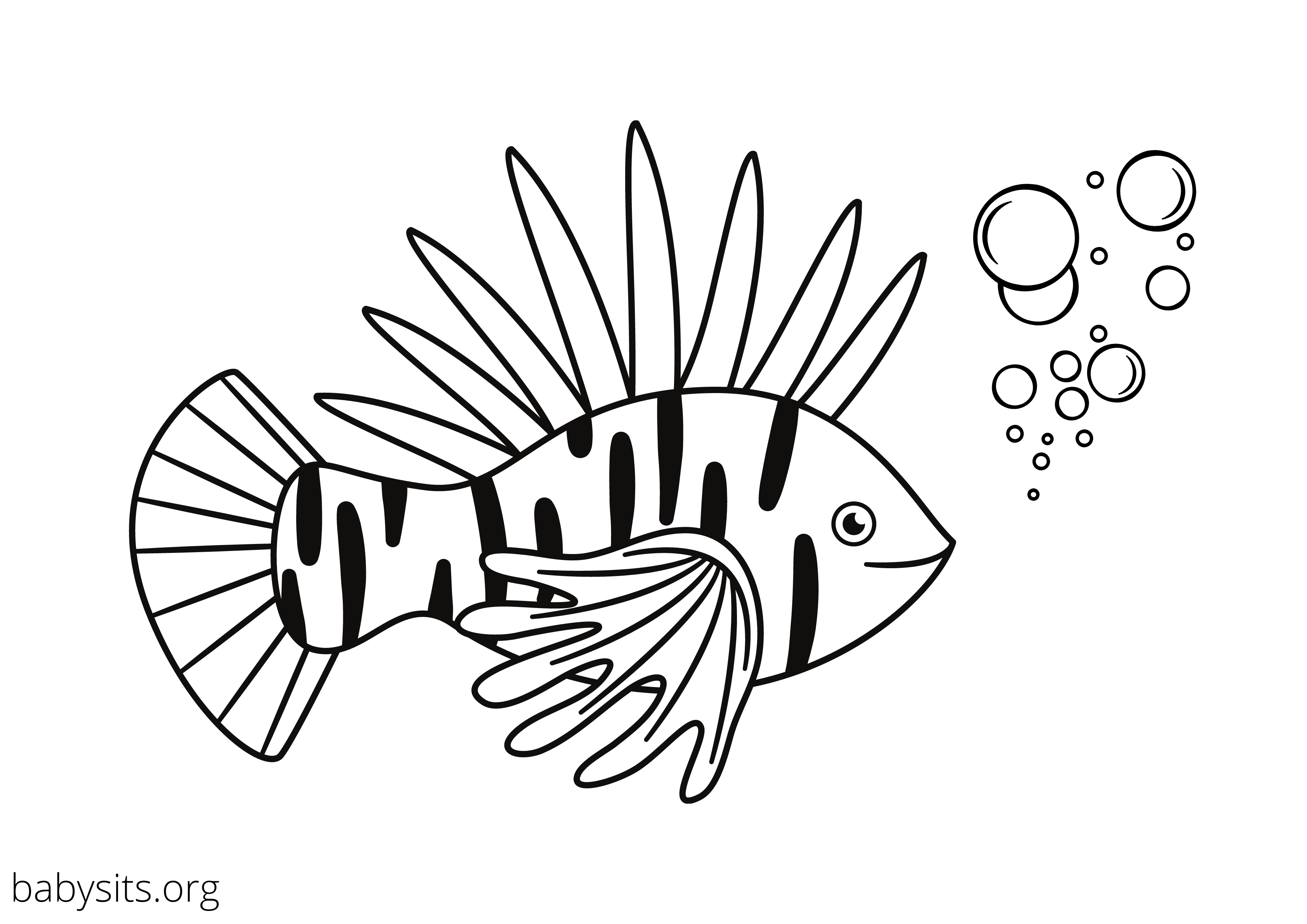Fish colouring page