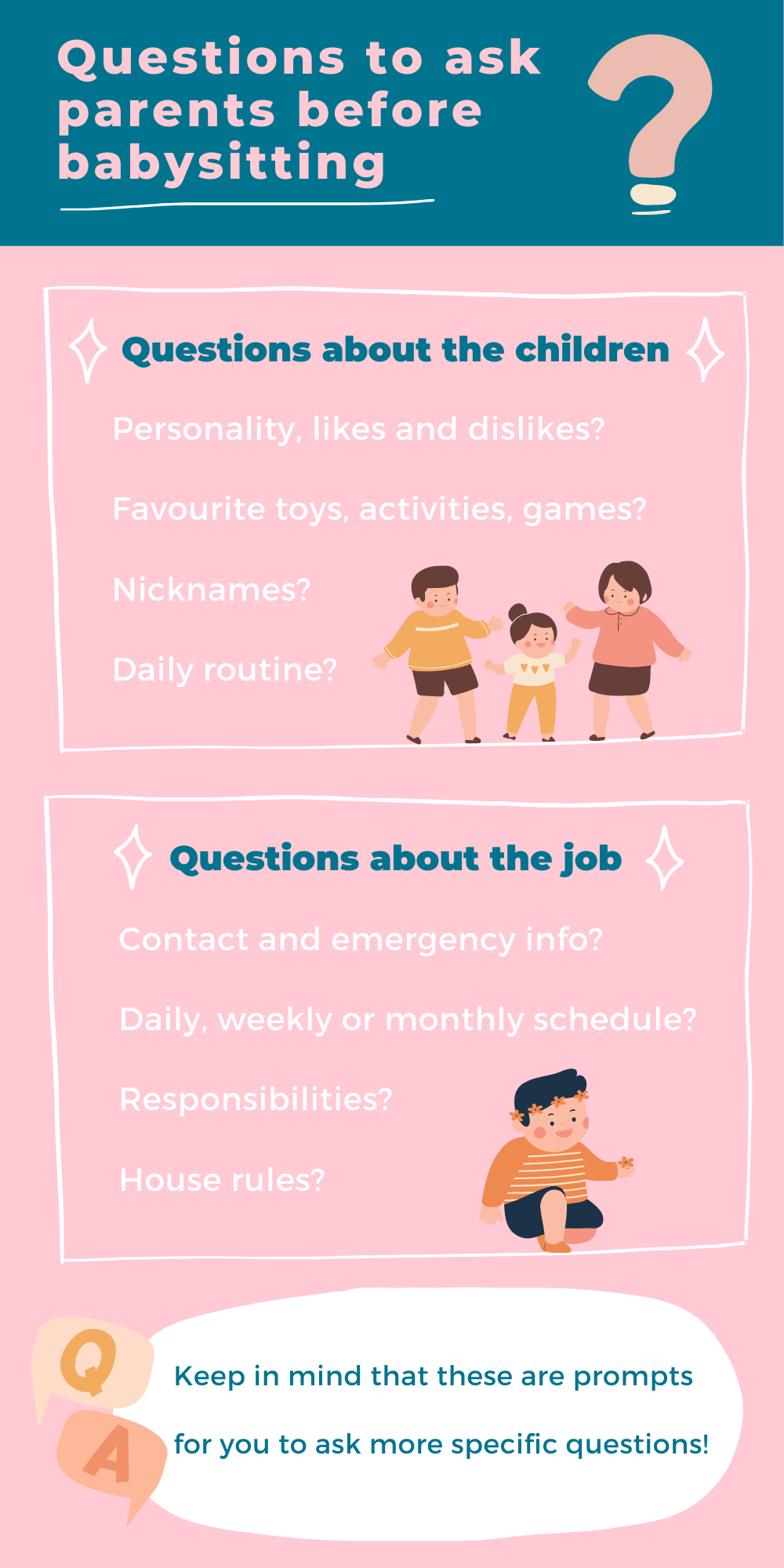 Questions to ask parents before babysitting