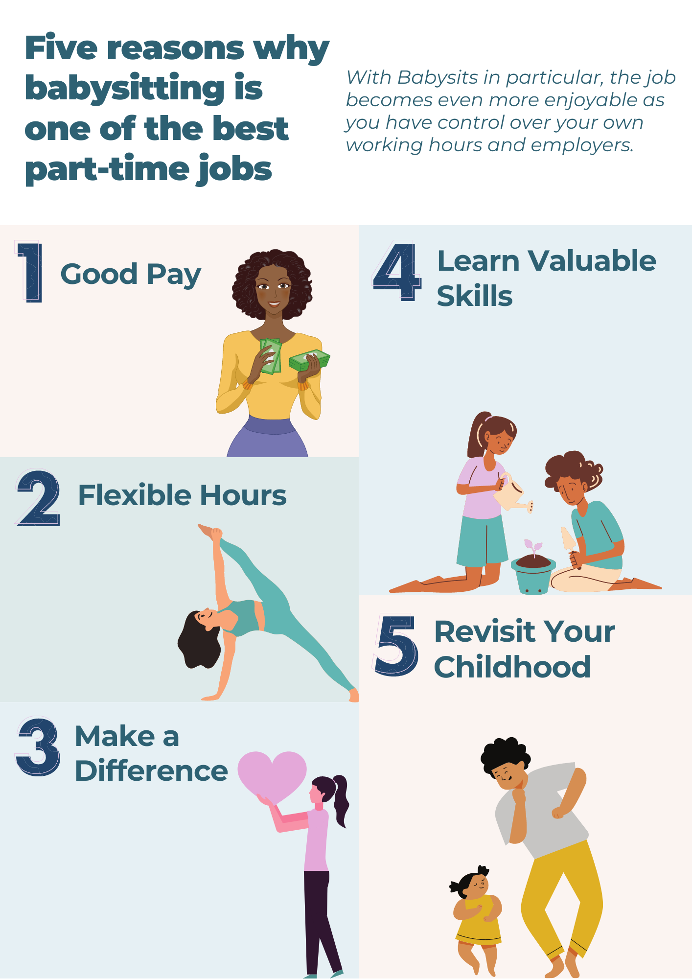 Babysitting as a part-time job
