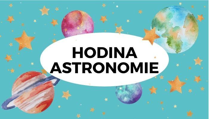 Dětská lekce astronomie Vesmírné tvoření pro děti