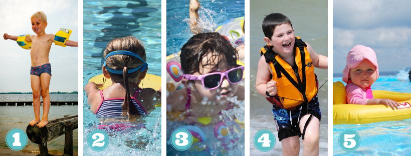 Die besten Schwimmhilfen fuer Kinder
