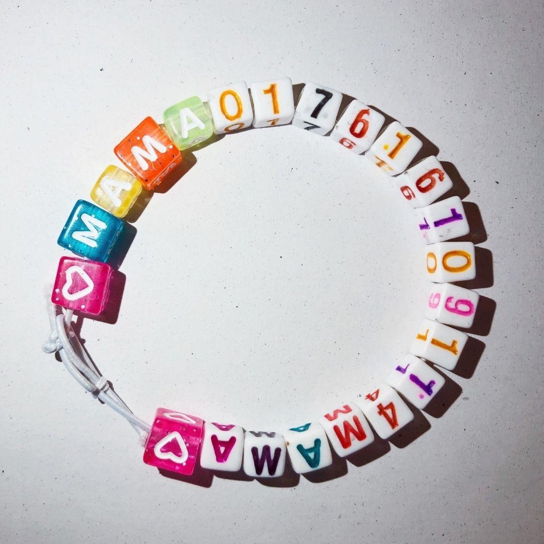 Phone book bracelet