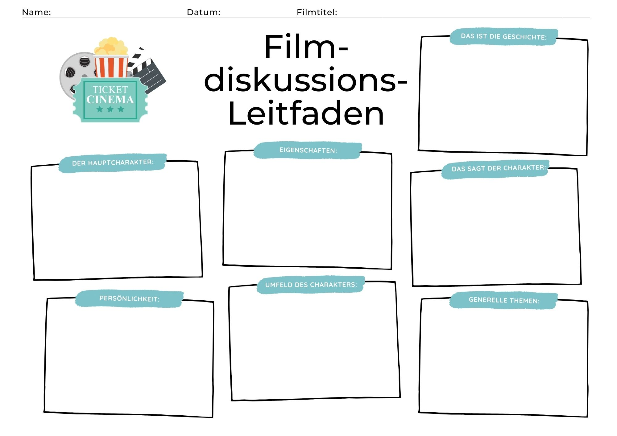 Filmdiskussion Leitfaden für Kinder