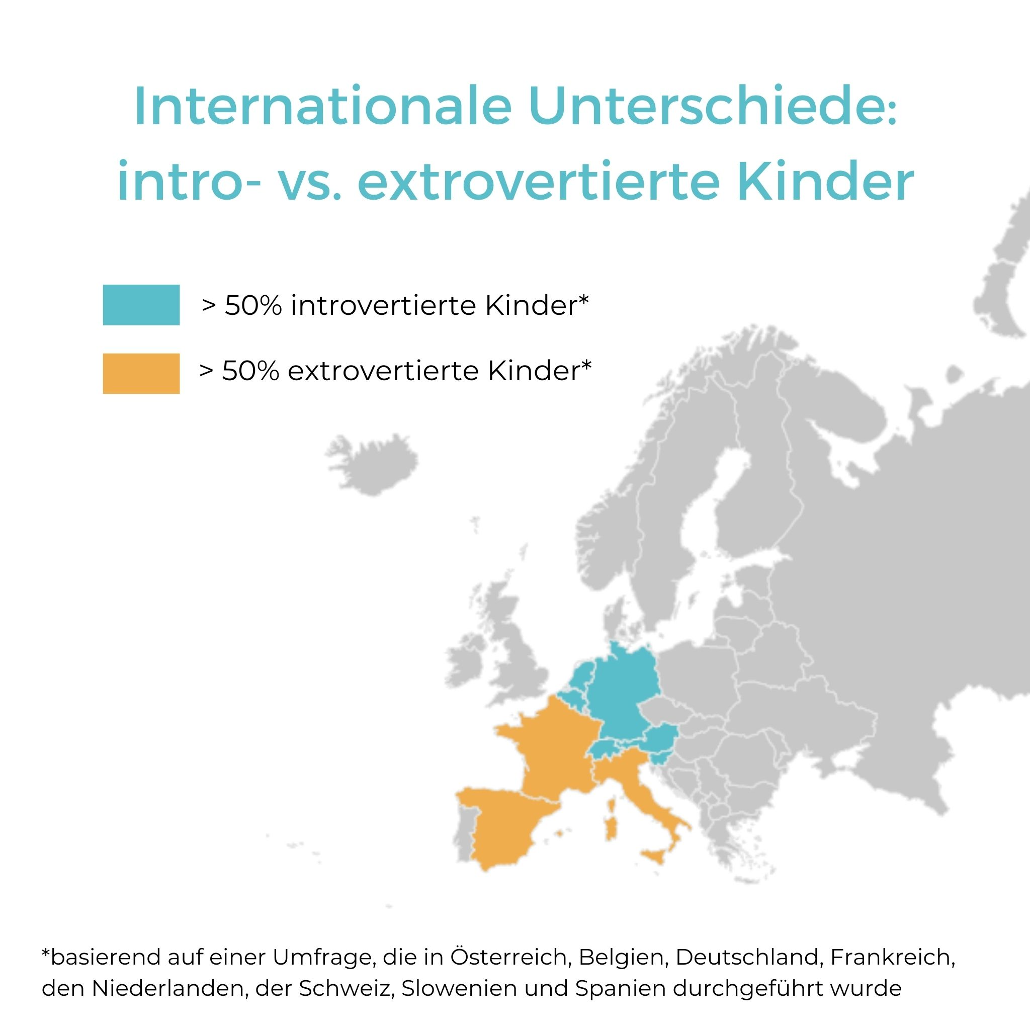 Introvertierte und extrovertierte Kinder in Europa