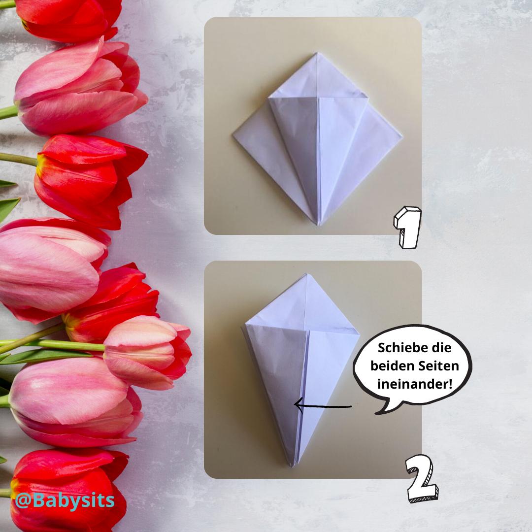 Origami Tulpe Schritt 5