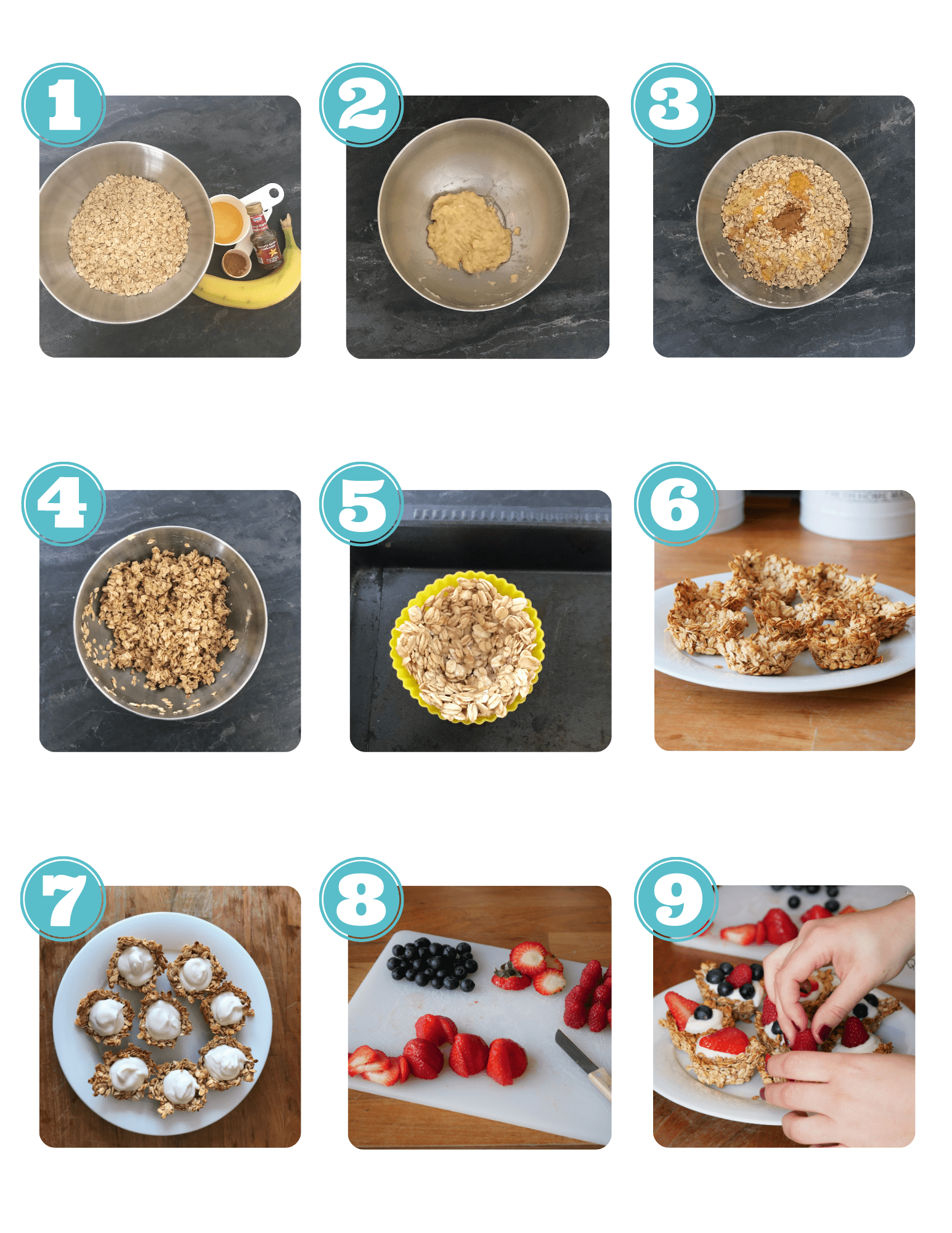 Granola Cups step by step