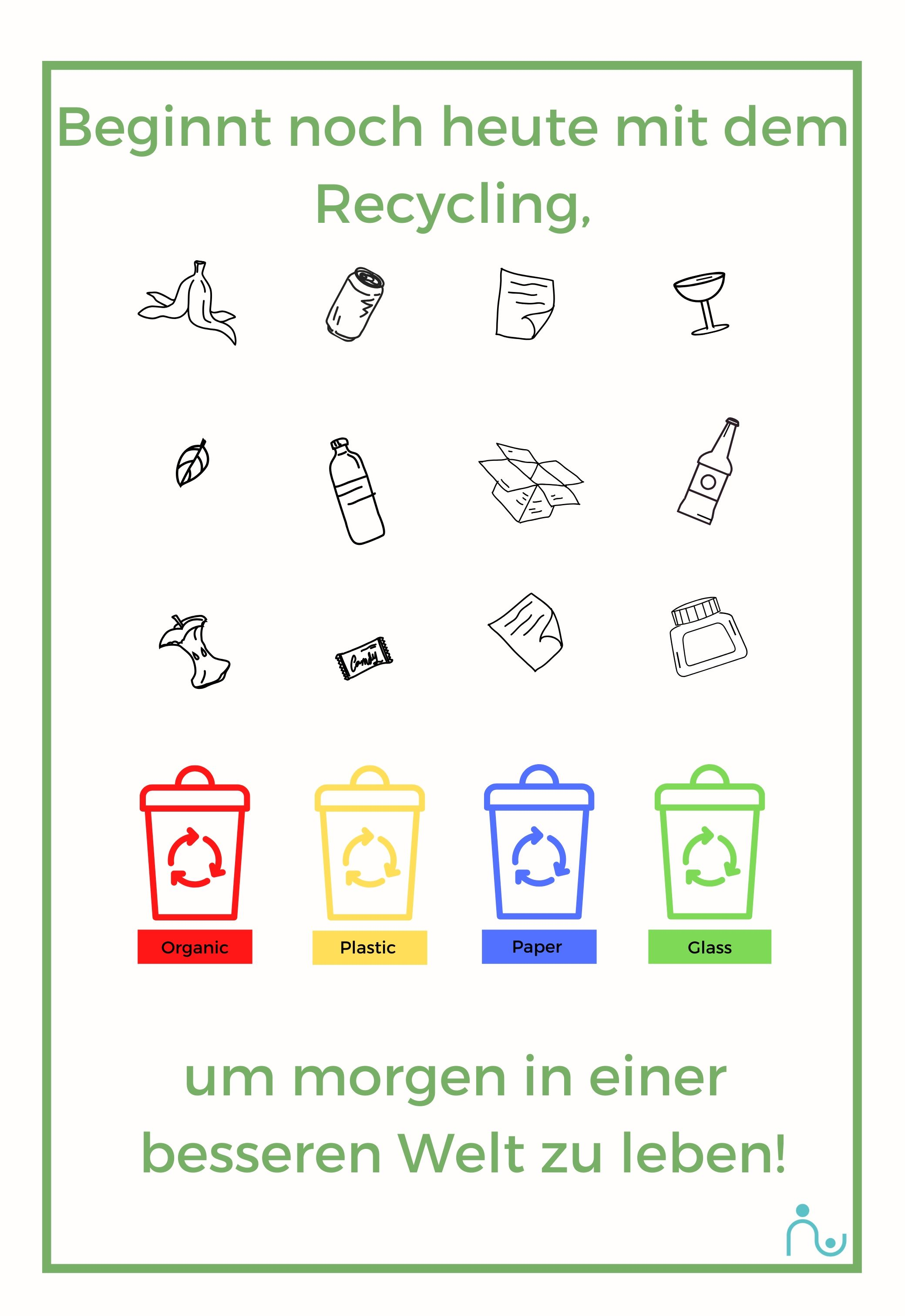 Den Kindern Recycling beibringen