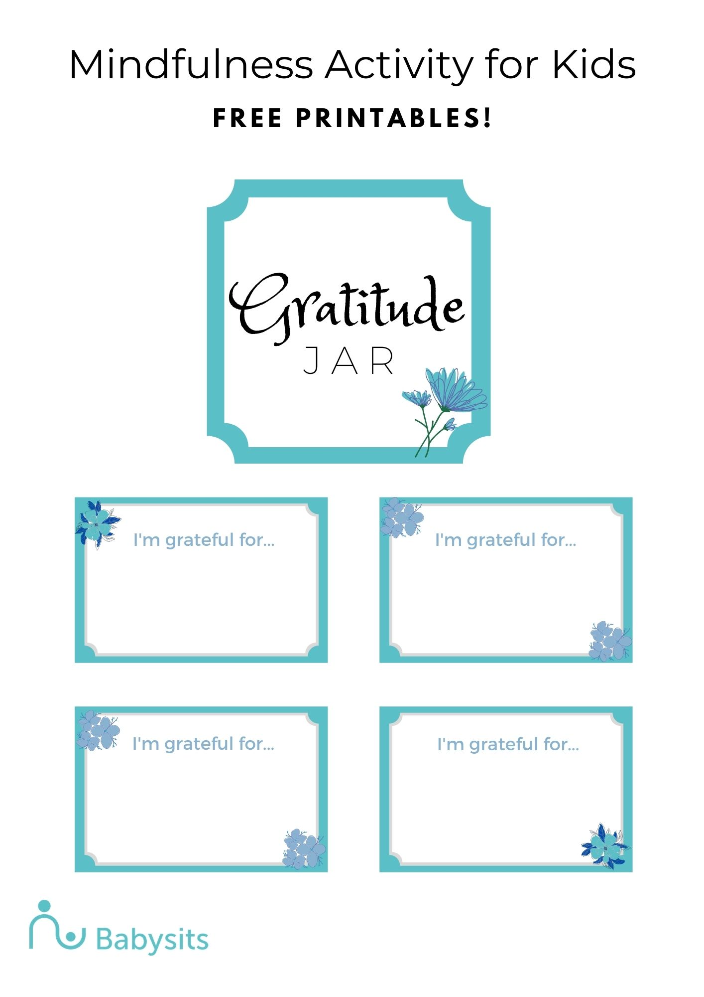 Gratitude Jar Printable Mindfulness Activity