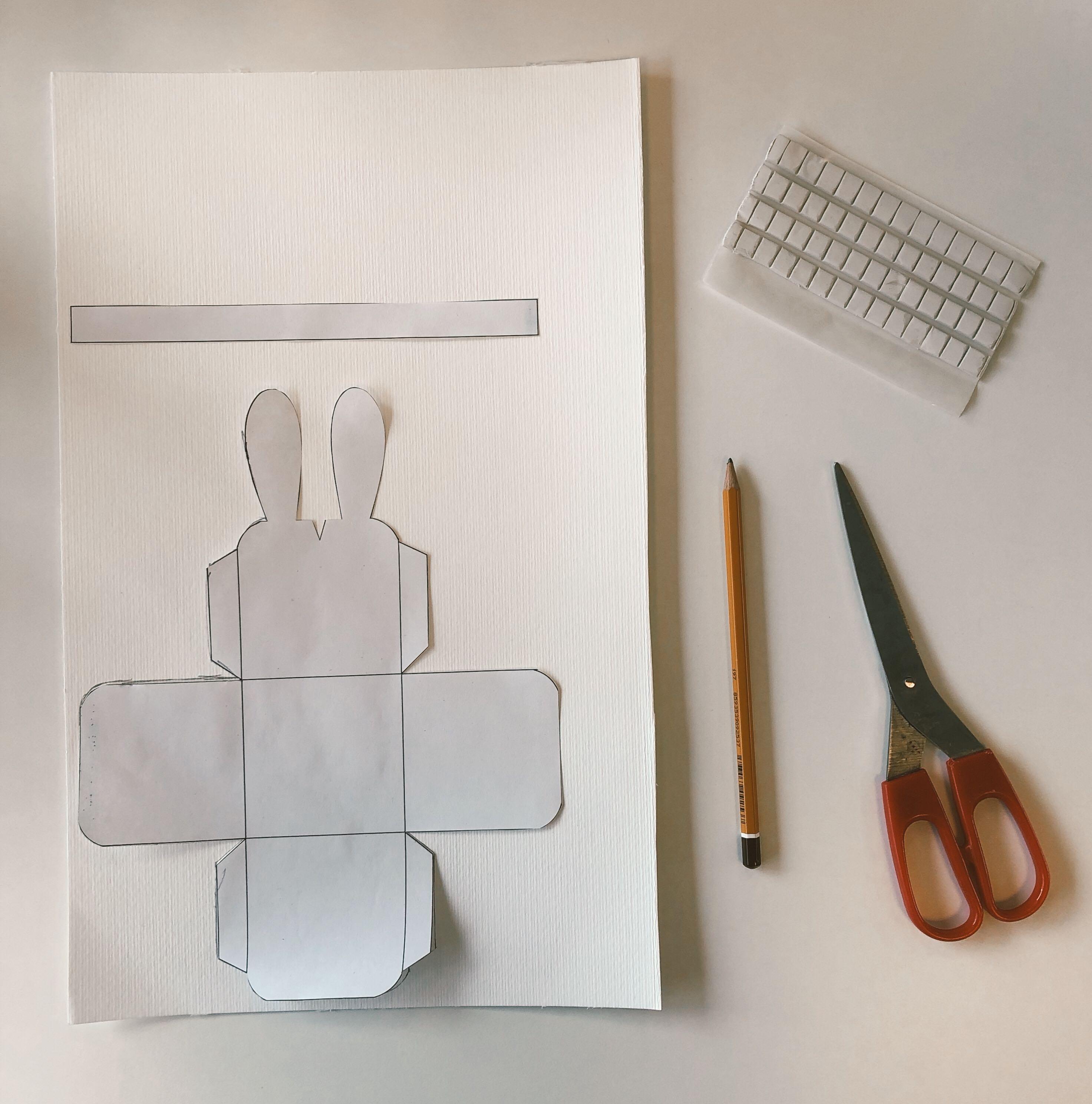 Plantilla manualidad de conejo