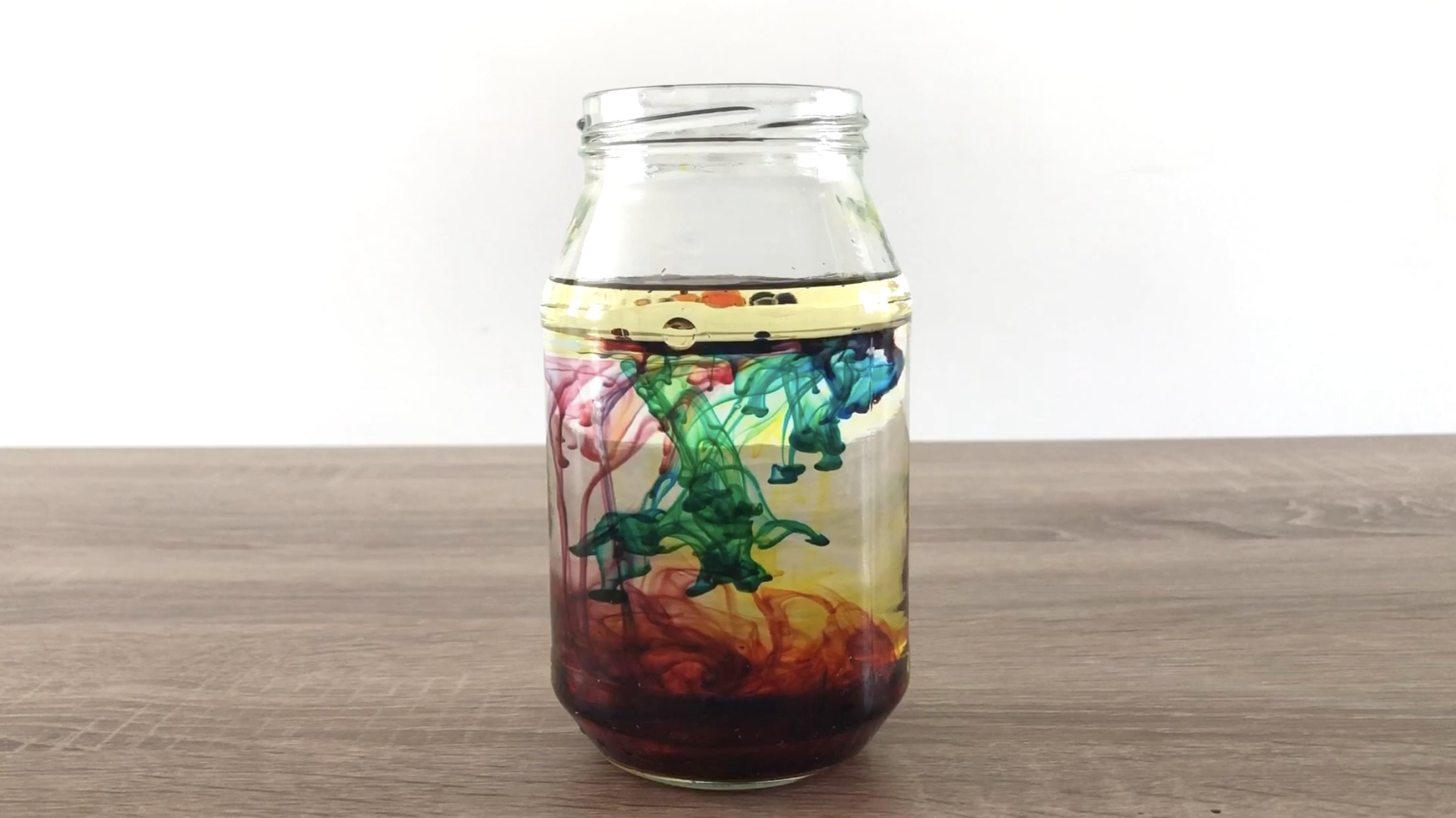 Fireworks in a Jar Science Experiment for Kids