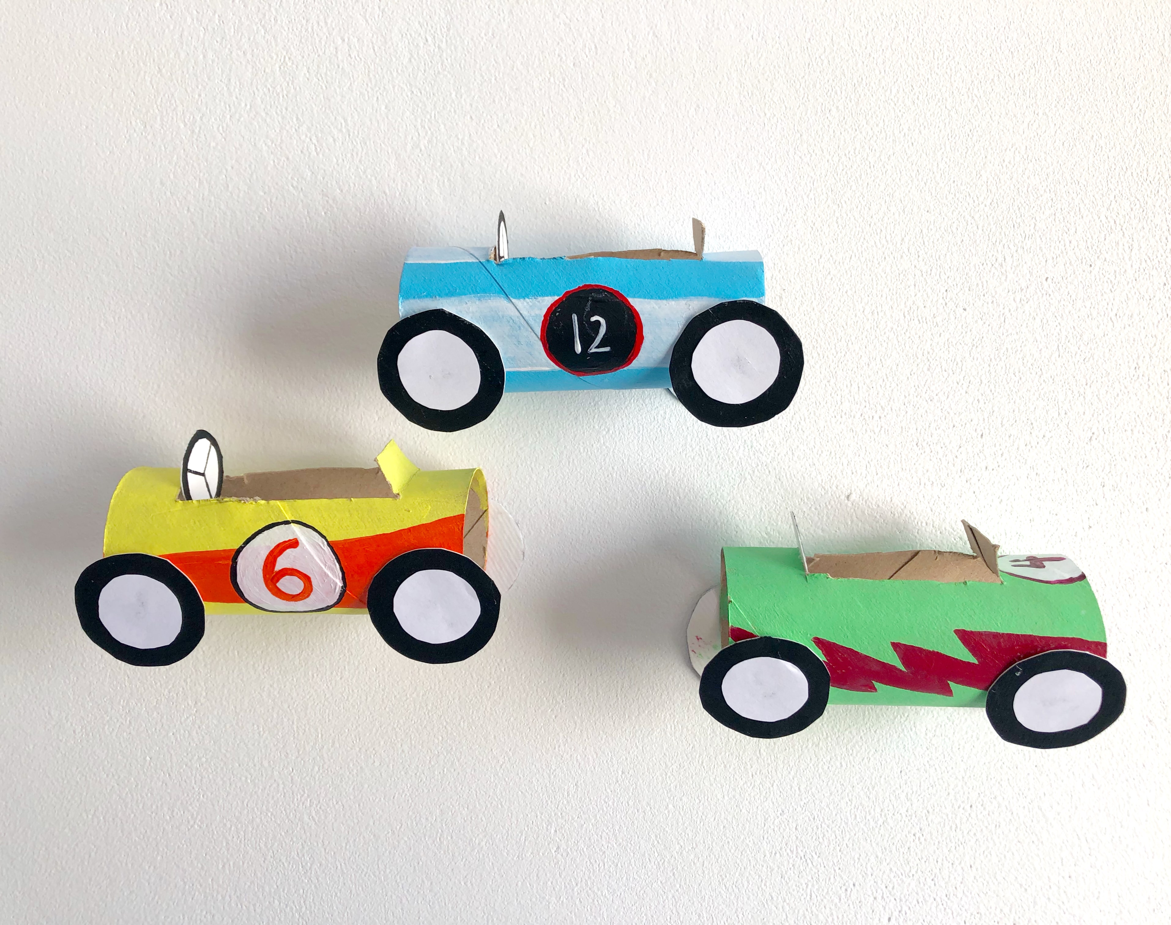 Toilet Paper Roll Racing Cars
