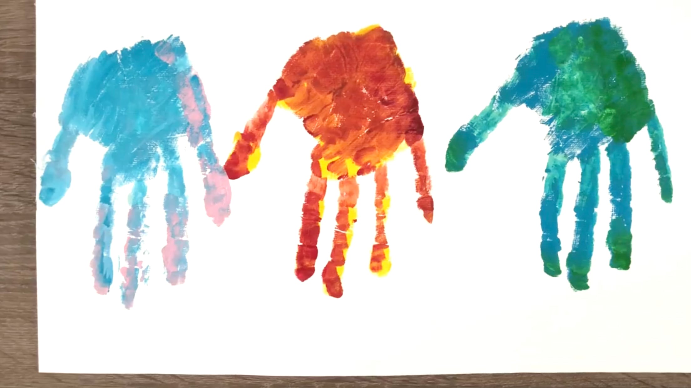 Finger Painting Dinosaur Craft