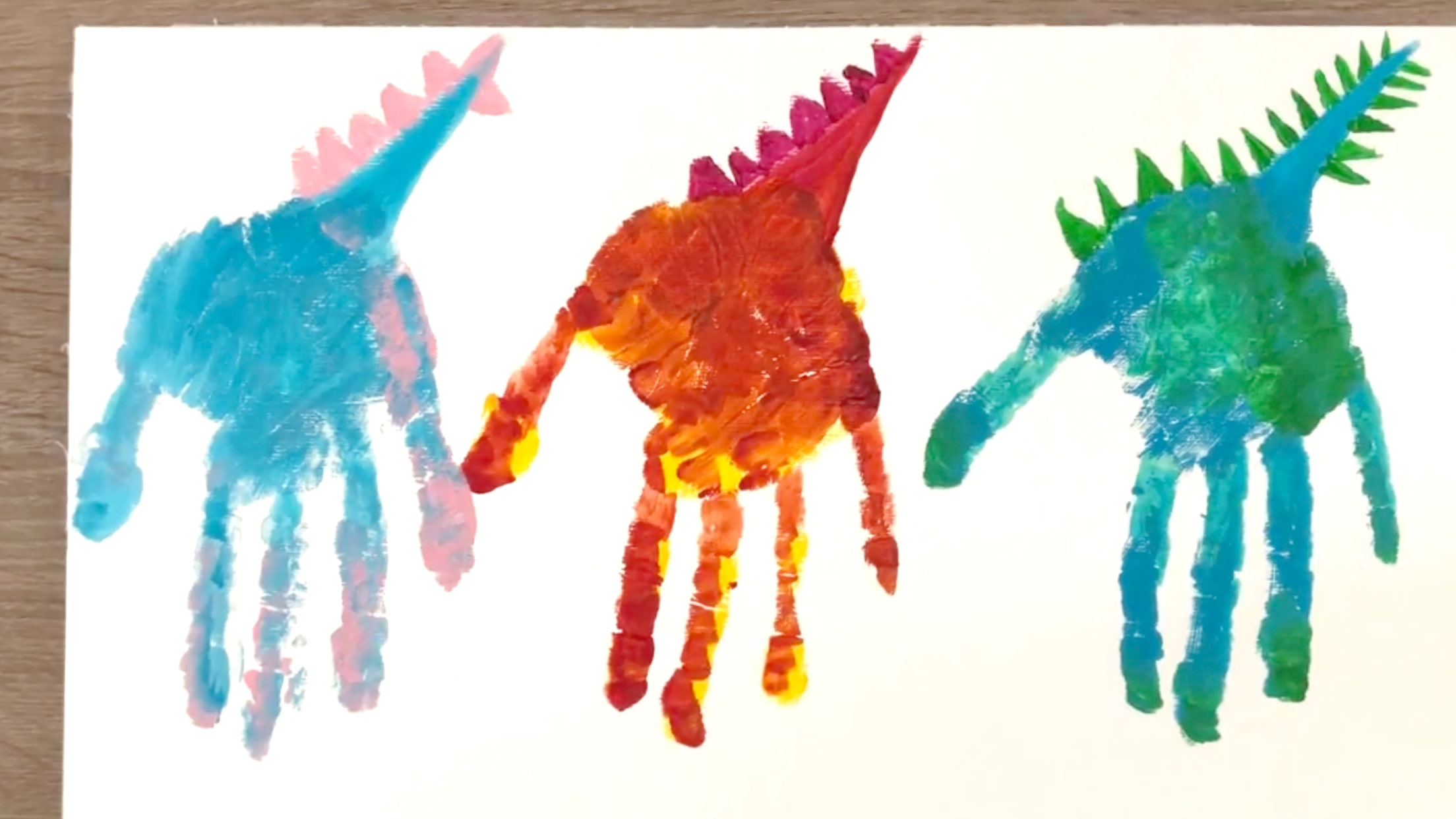 Finger Painting Dinosaurs Details