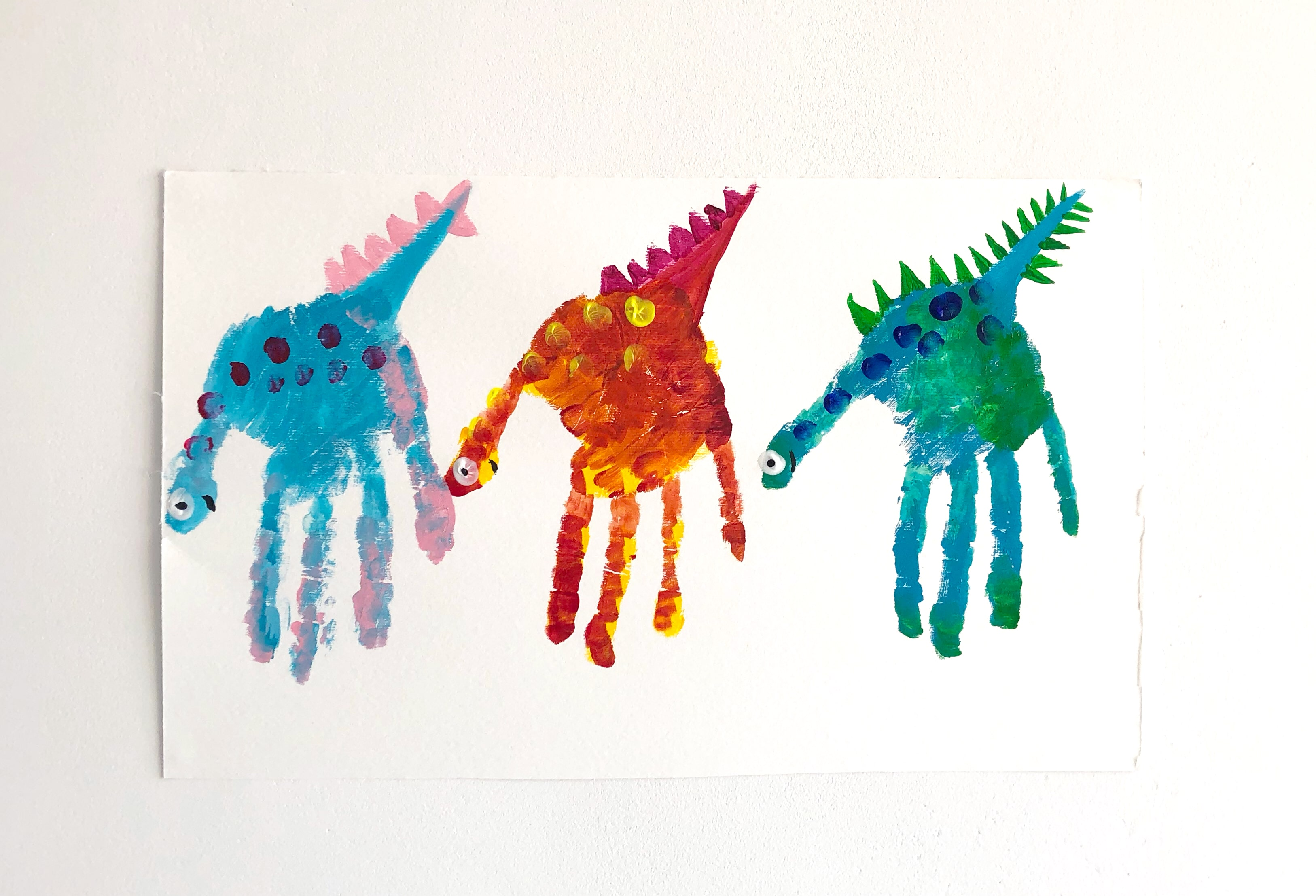 Craft for kids dinosaur finger painting