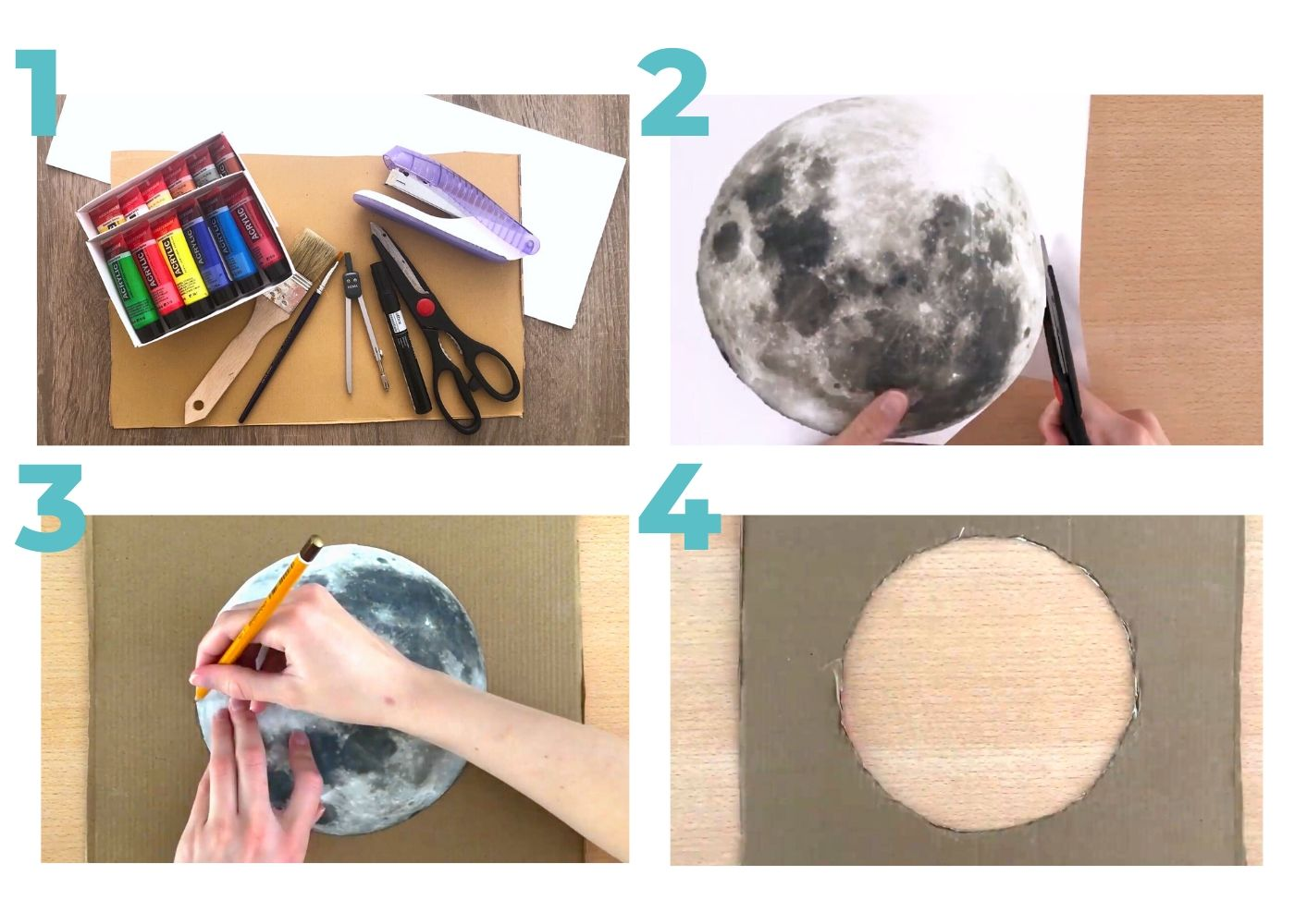 Moon Phases Space Craft for Kids