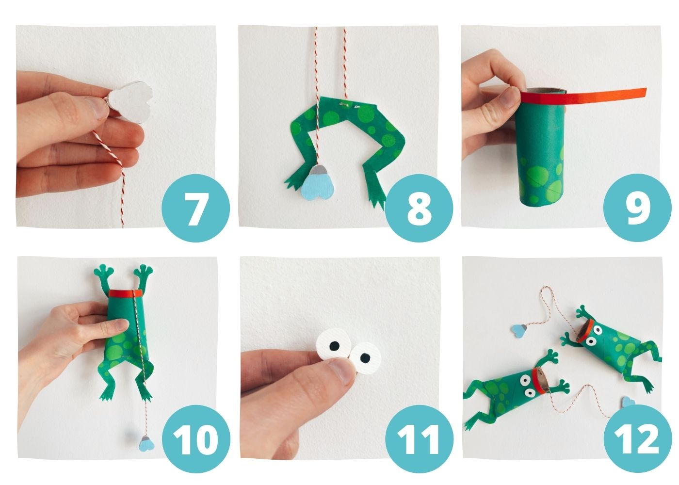 Frog DIY Toilet Paper Roll Crafts Step7-12