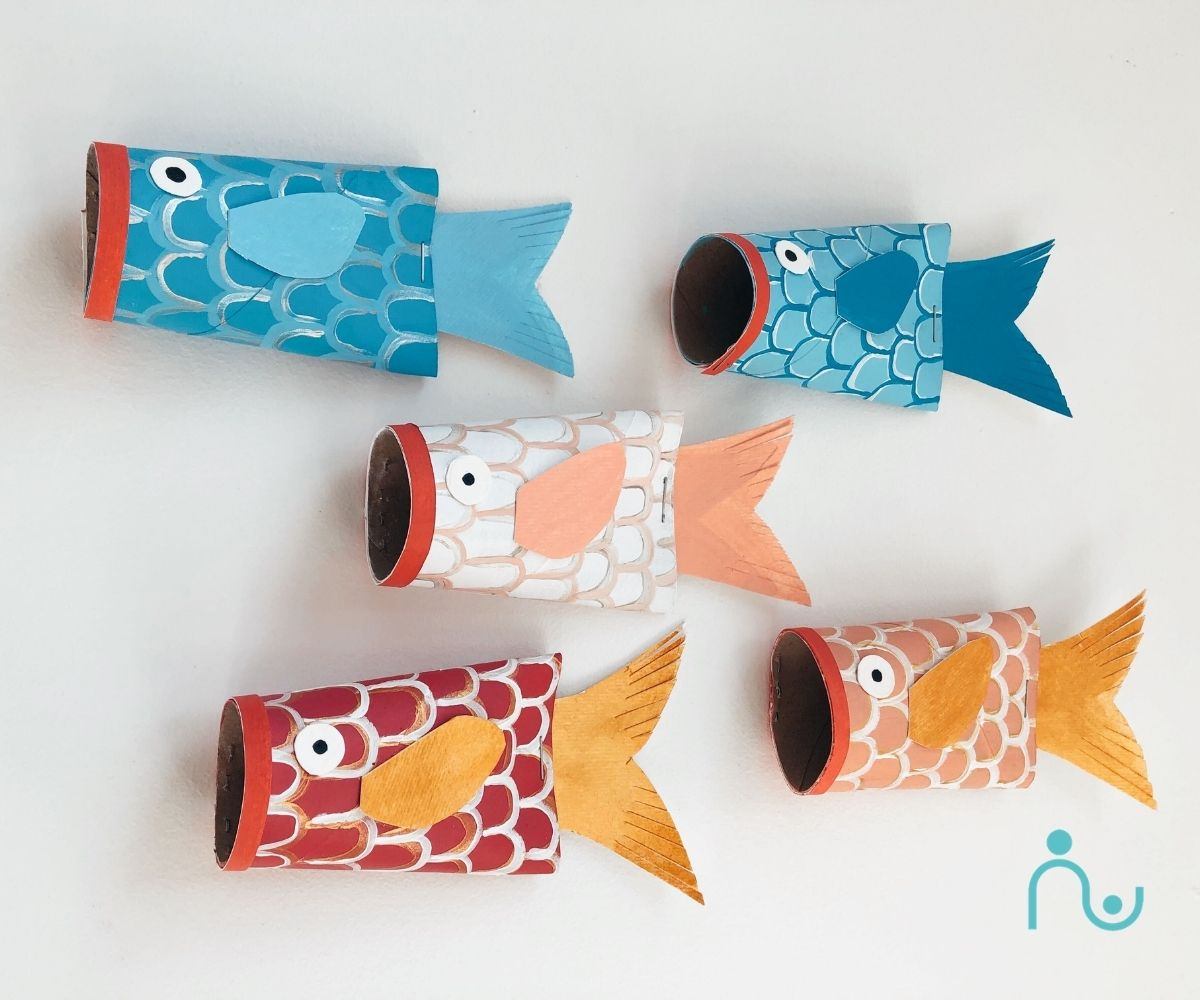 Koi Fish Toilet Paper Roll Crafts