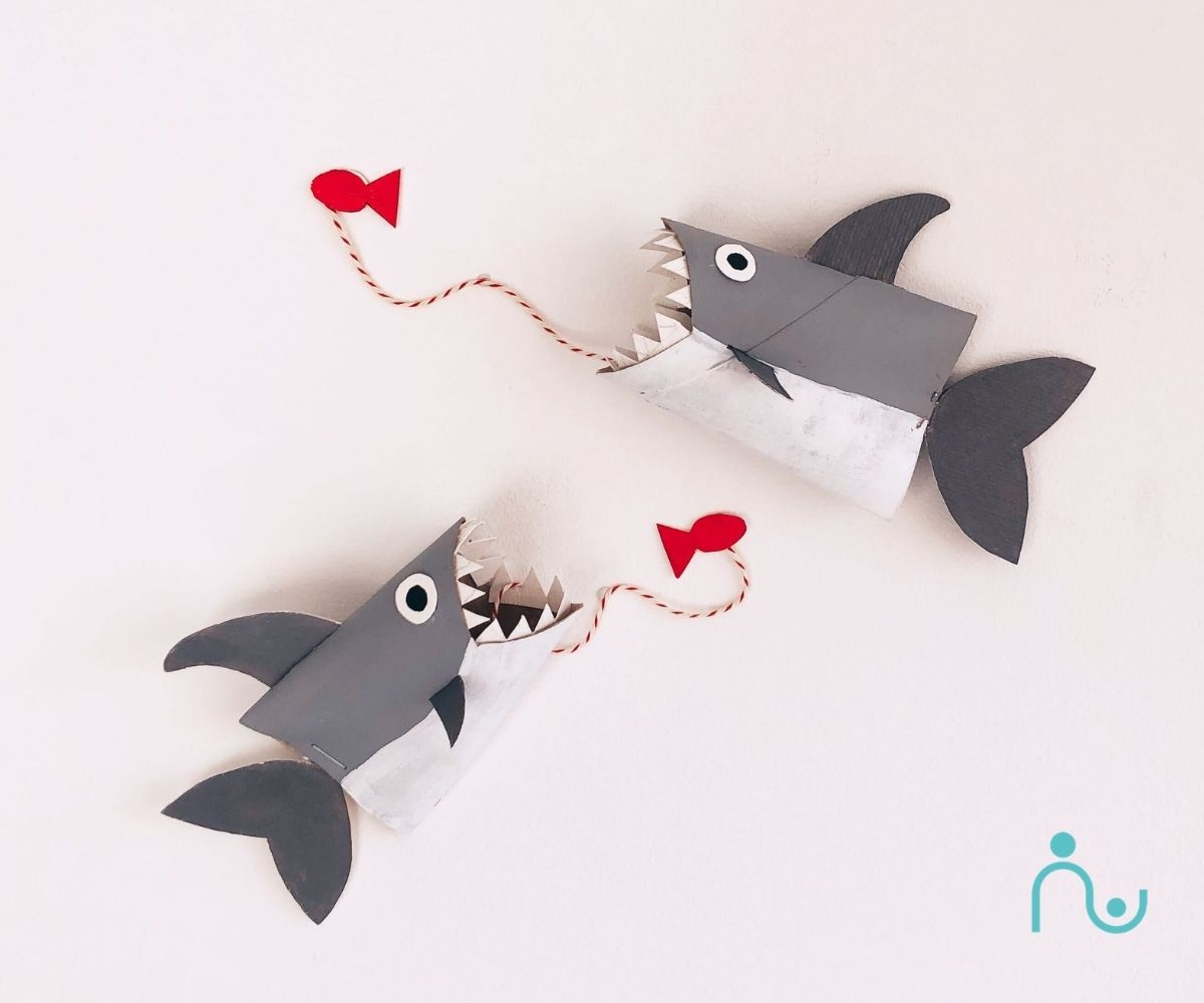 Shark DIY Toilet Paper Roll Crafts