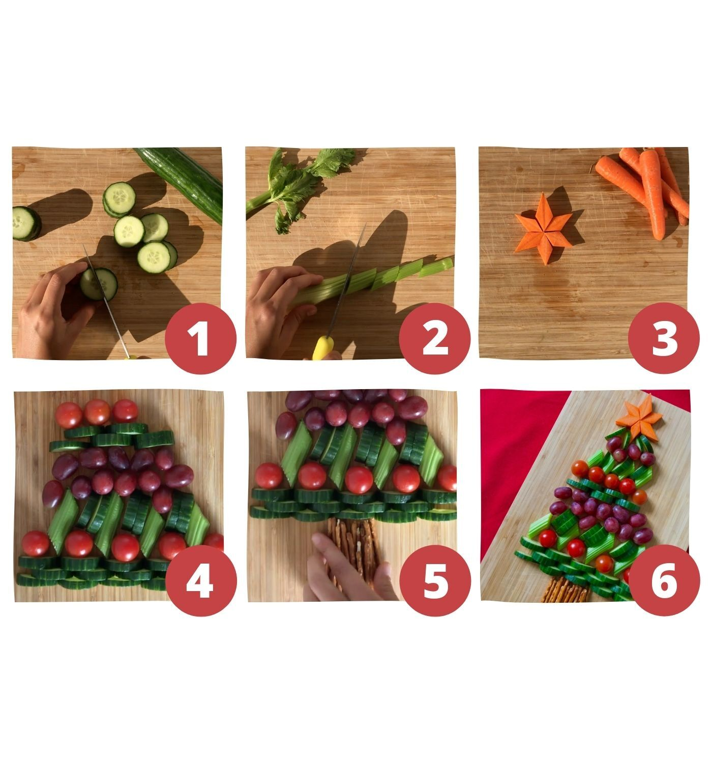 fruit and vegetable christmas tree recipe