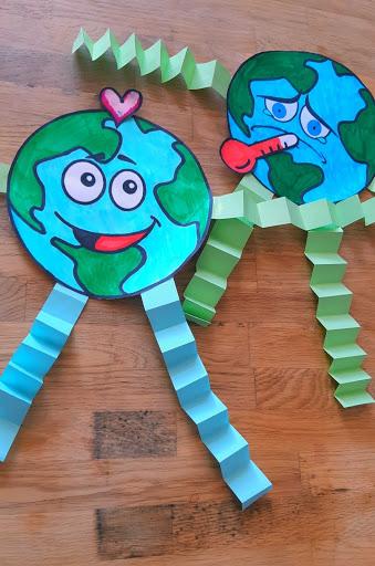Lavoretto che spiega il cambiamento climatico ai bambini