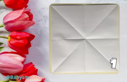 Origami Blume Anleitung Schritt 1