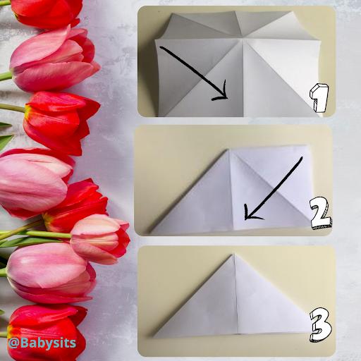 Tulpen basteln Schritt 2