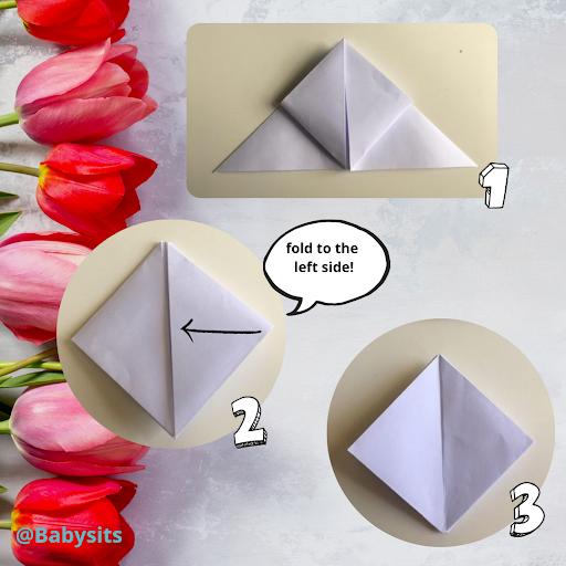 diy origami tulips step 3