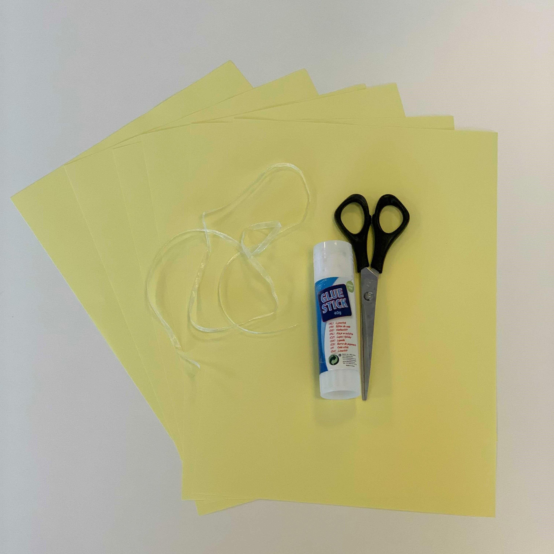 matériel DIY soleil en papier