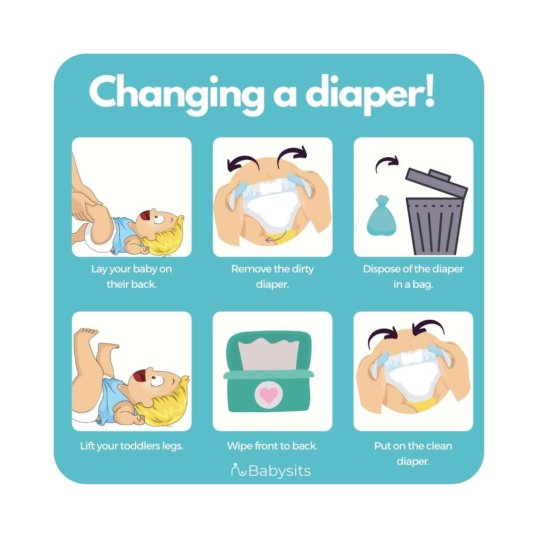 Changing a toddler's diaper