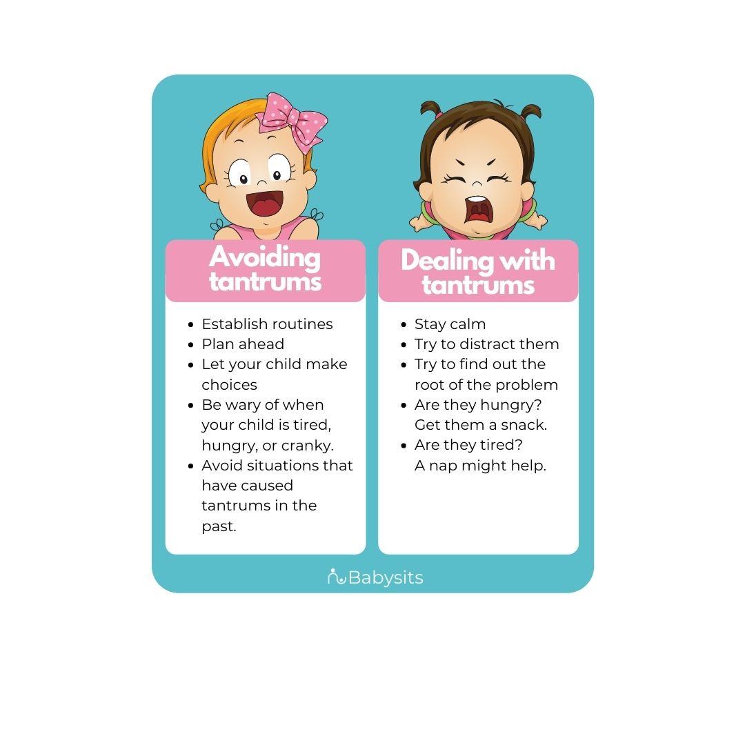 Dealing with toddler tantrums