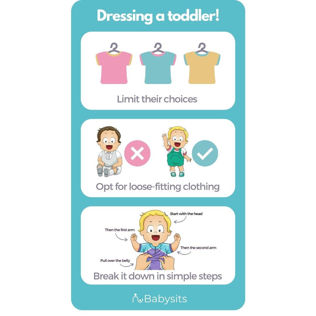 Getting a toddler dressed