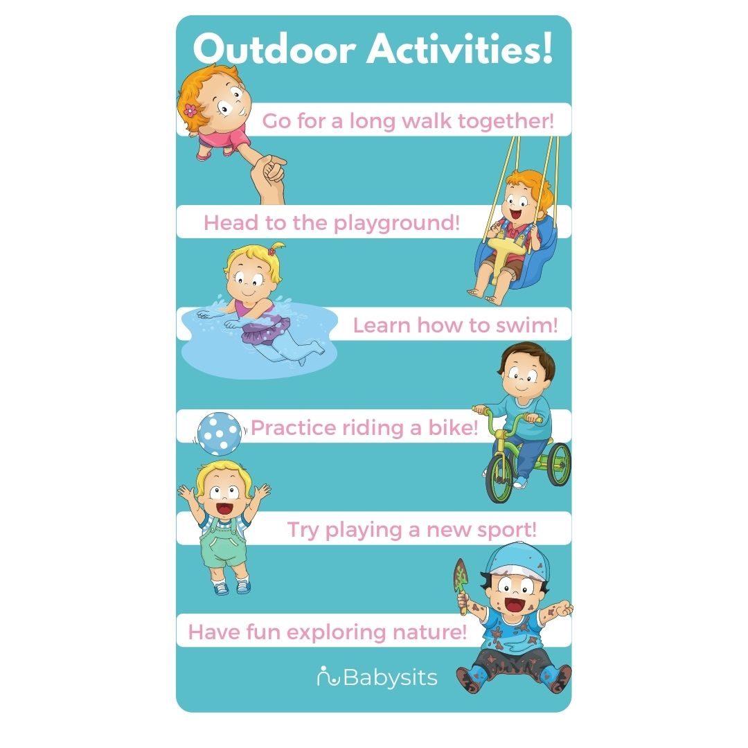 Outdoor activities for kids and toddlers